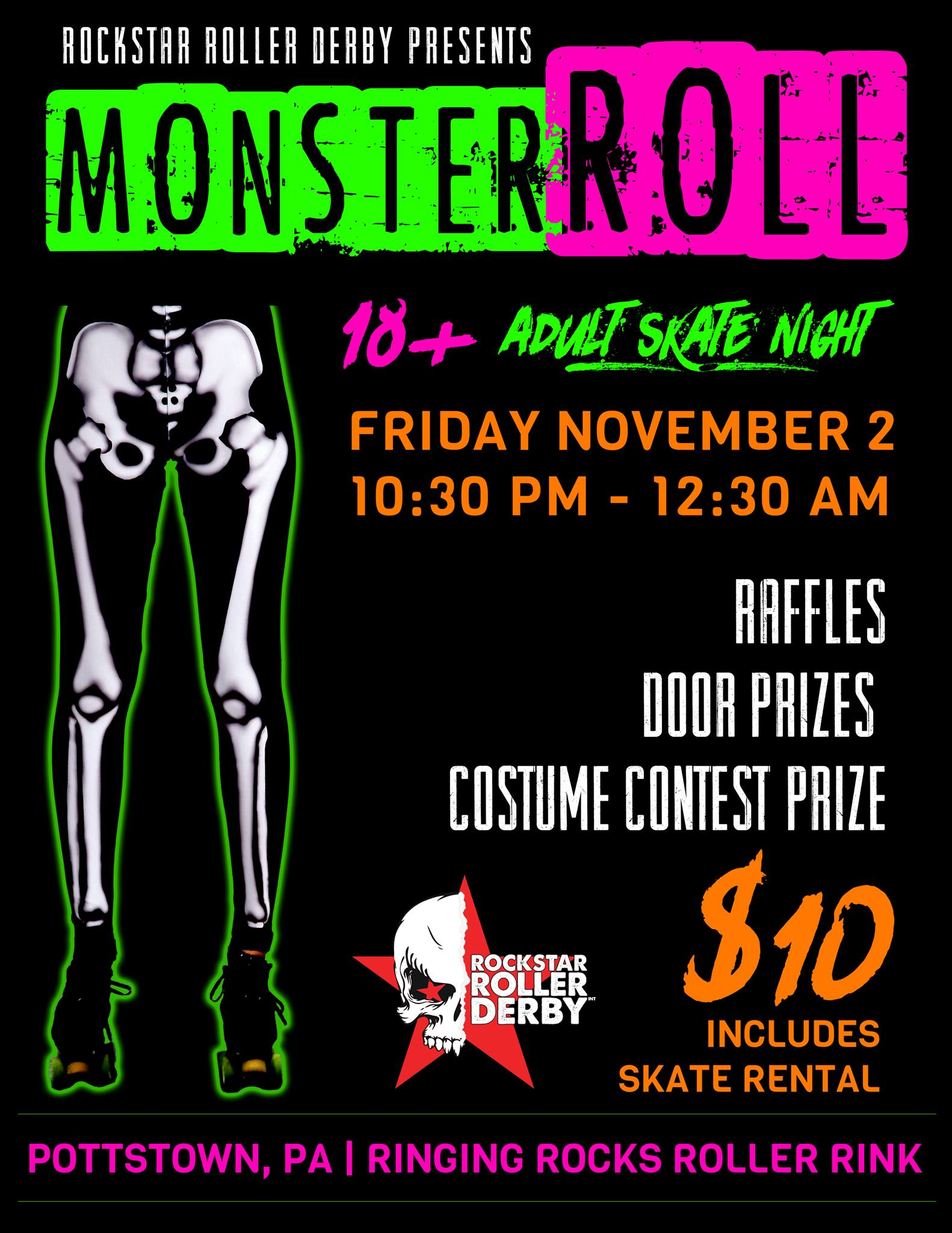 Adult Skate Part - Monster's Roll